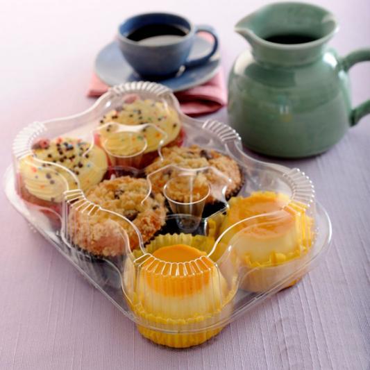 Embalagem  para 6 Cupcakes caixa 100 unidades