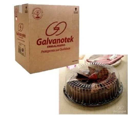 Embalagens para bolos redondos com tampa 1,7kg - Caixa 50und
