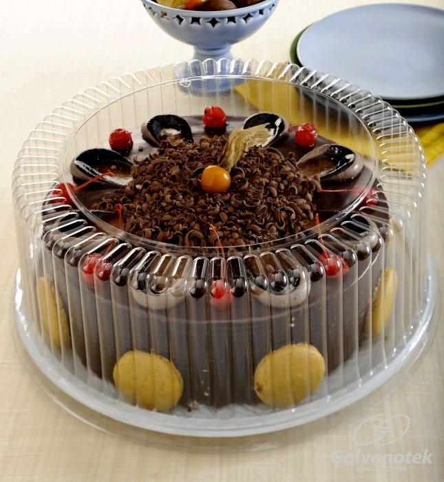 Embalagens para bolos redondos com tampa 2,5kg - Caixa 50und