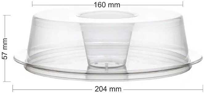 Forma para pudim forneável com tampa 1100ml  - Pacote 5und