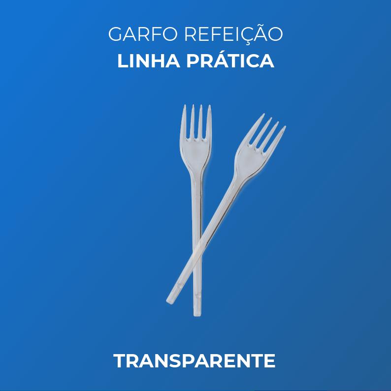 Garfo Refeição - Linha Prática - Transparente