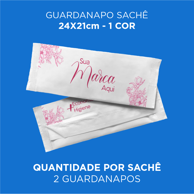 Guardanapos personalizados 24x21cm - Caixa