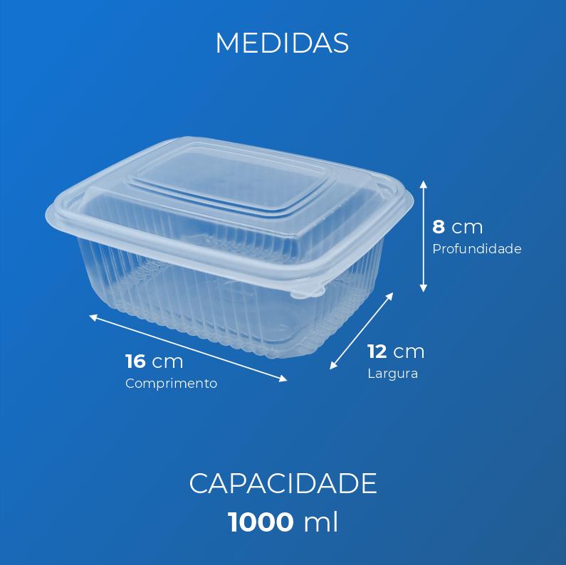 Marmita Fitness Para Freezer e Micro-Ondas - 1000 ml