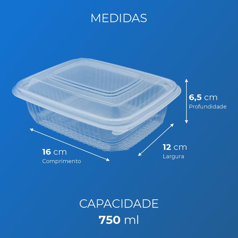 Marmita Fitness Para Freezer e Micro-Ondas - 750 ml