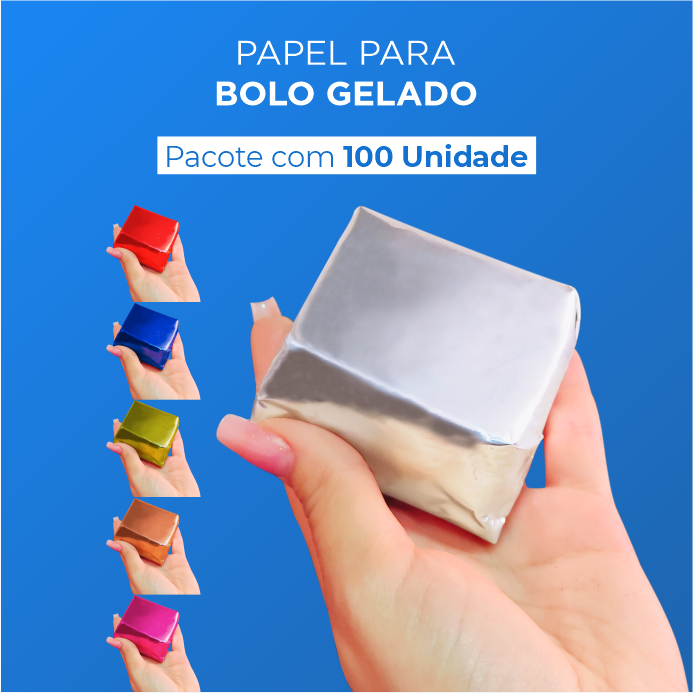 Papel Para Bolo Gelado - 20x22cm - 100 Unid.