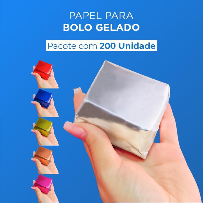Papel Para Bolo Gelado - 20x22cm - 200 Unid.