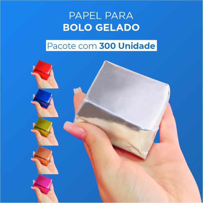 Papel Para Bolo Gelado - 20x22cm - 300 Unid.