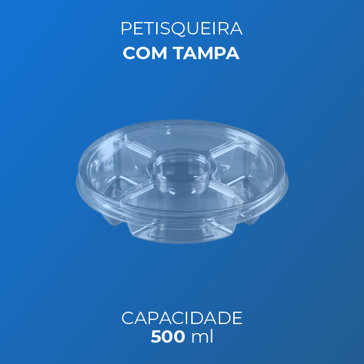 Petisqueira 500 ml Com Tampa