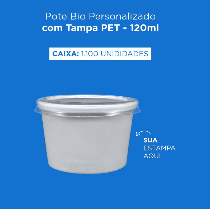 Pote Bio Personalizado com Tampa PET - 120ml