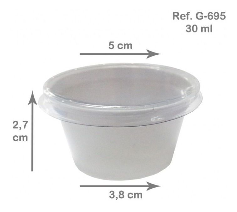 Pote branco para molho 30ml - Caixa 700und