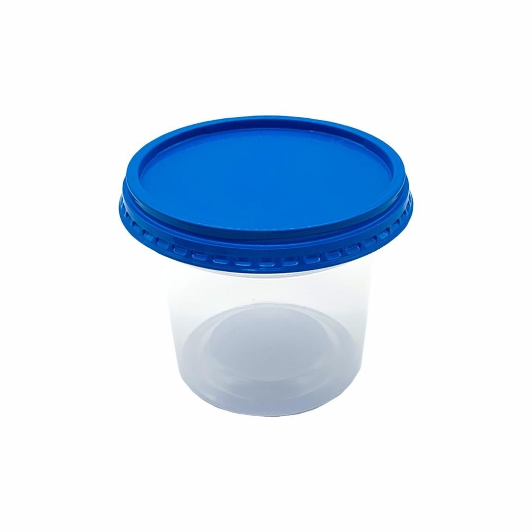 Potes industriais transparentes com tampa 450ml - Caixa 1000und