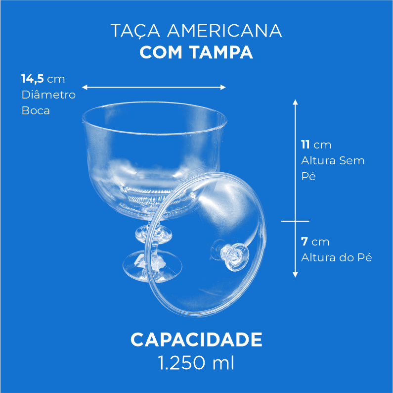 Taça Americana com Tampa - 1.250ml