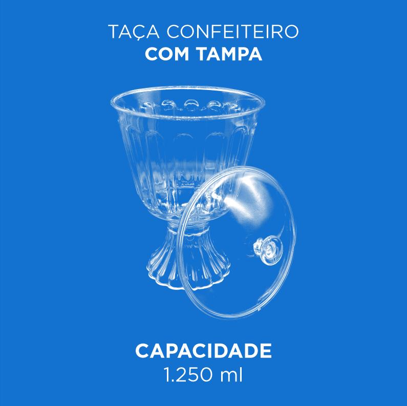 Taça Confeiteiro com Tampa - 1.250ml