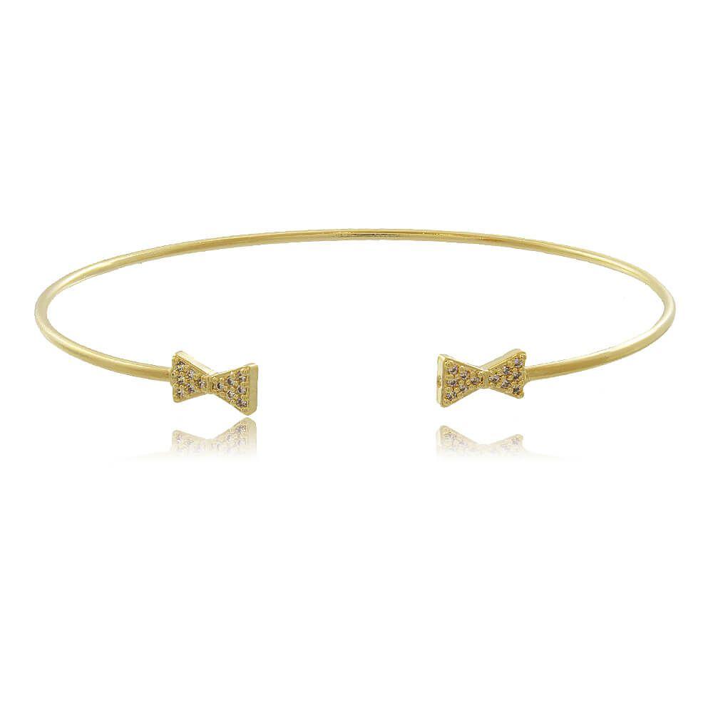 Bracelete Com Lacinhos Folheado a Ouro 18k