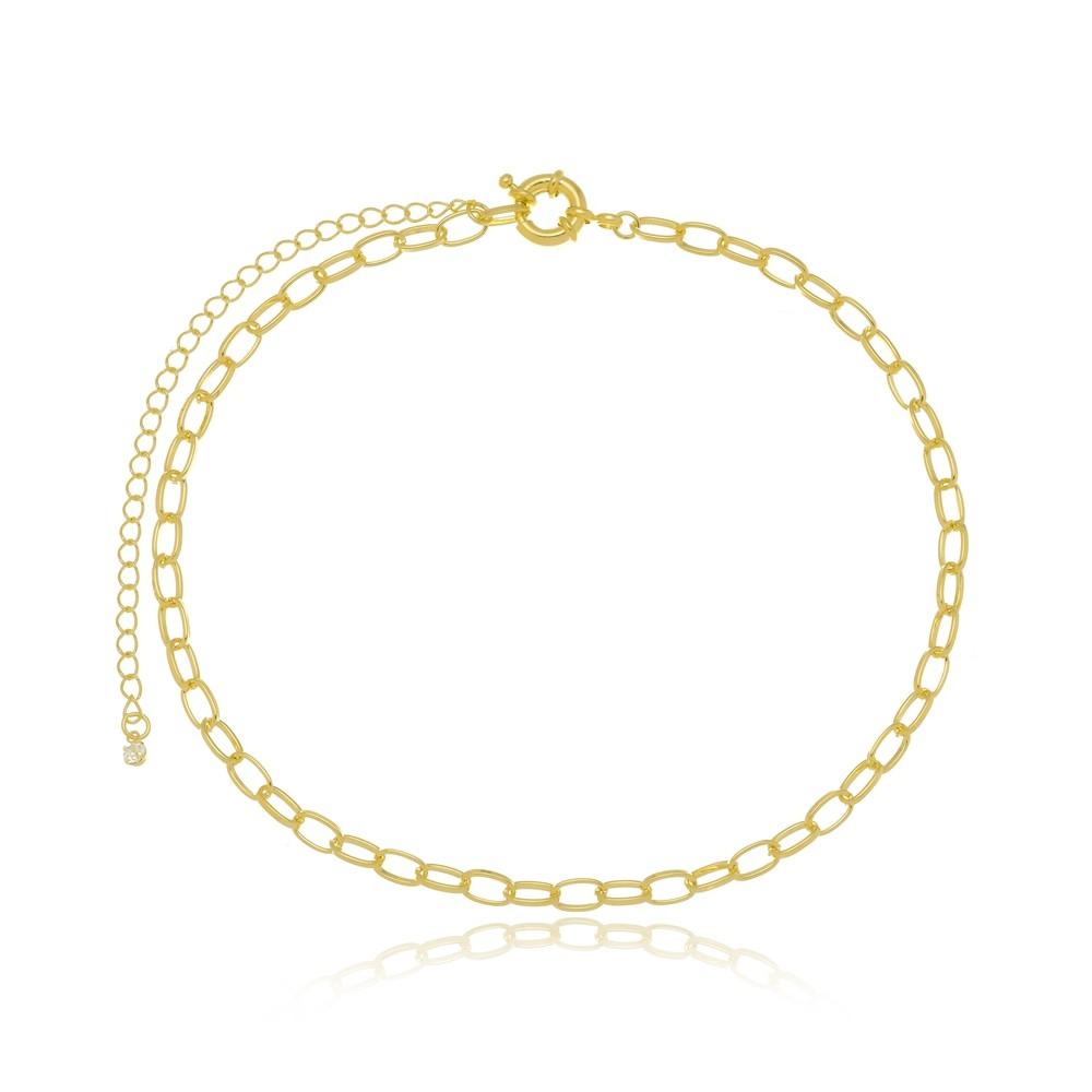 Colar Choker Cartier Folheado a Ouro 18k