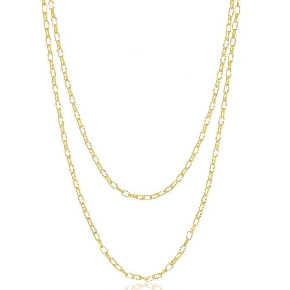 Colar Duplo Cartier Folheado a Ouro 18k