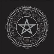 Mandala Astrológica com Pentagrama