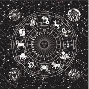 Mandala Astrológica Luna Fundo Invertido