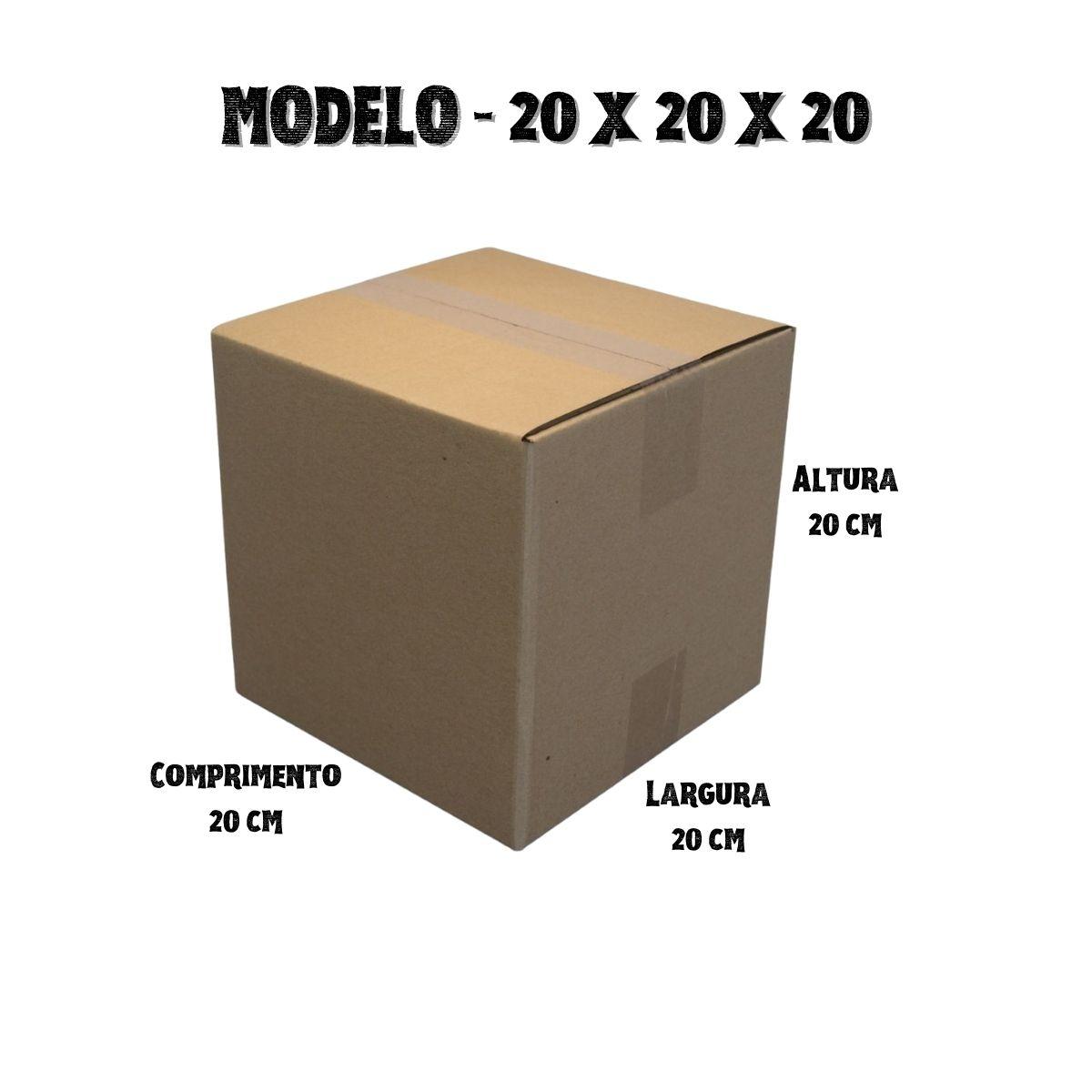 100 Caixas de Papelao (20X20X20)cm - Sedex / Pac / Correios
