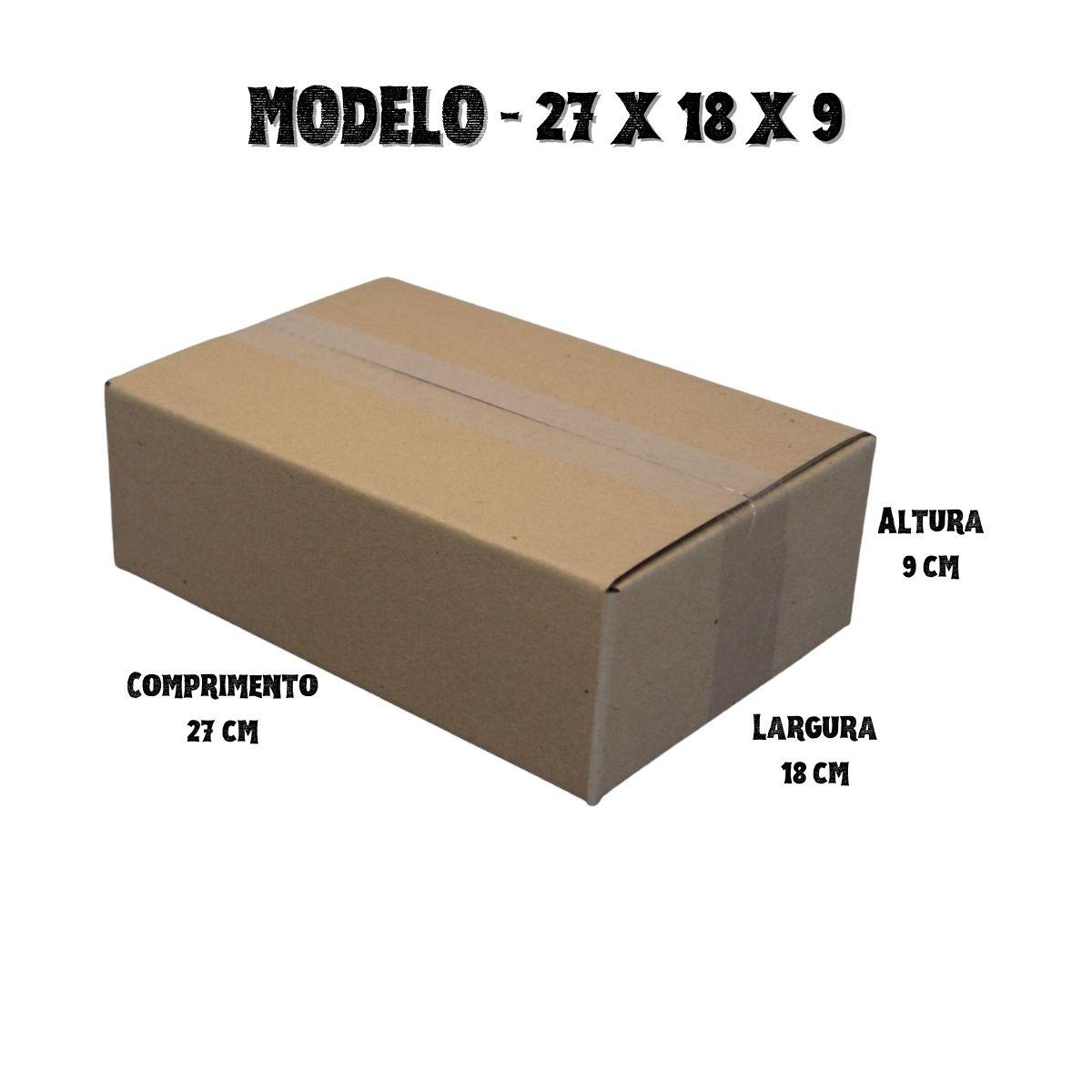 10 Caixas de Papelao (27X18X9)cm - Sedex / Pac / Correios