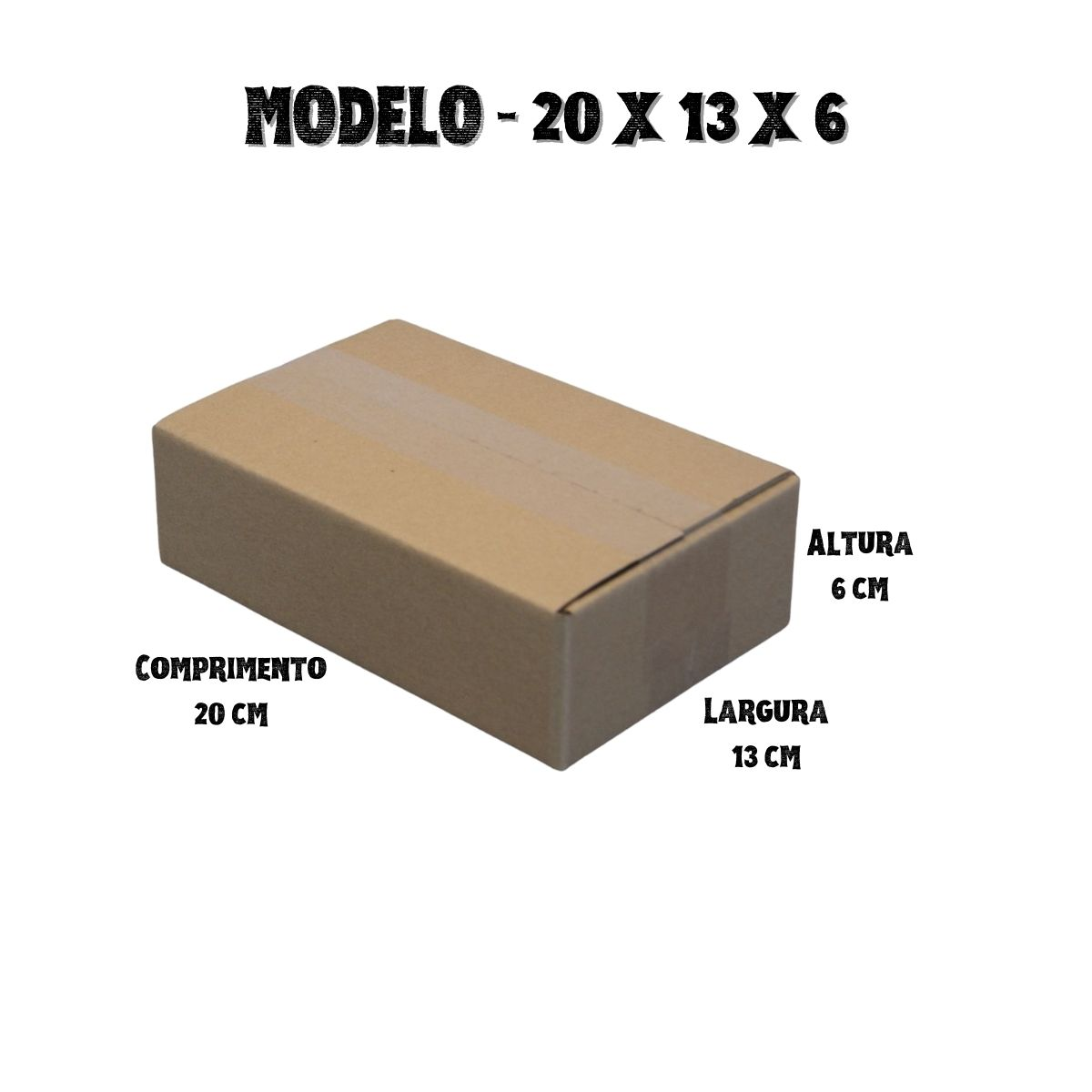 200 Caixas de Papelao (20X13X6)cm - Sedex / Pac / Correios