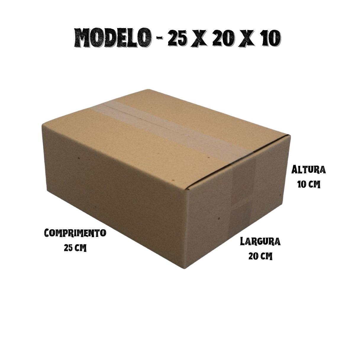 25 Caixas de Papelao (25X20X10)cm - Sedex / Pac / Correios