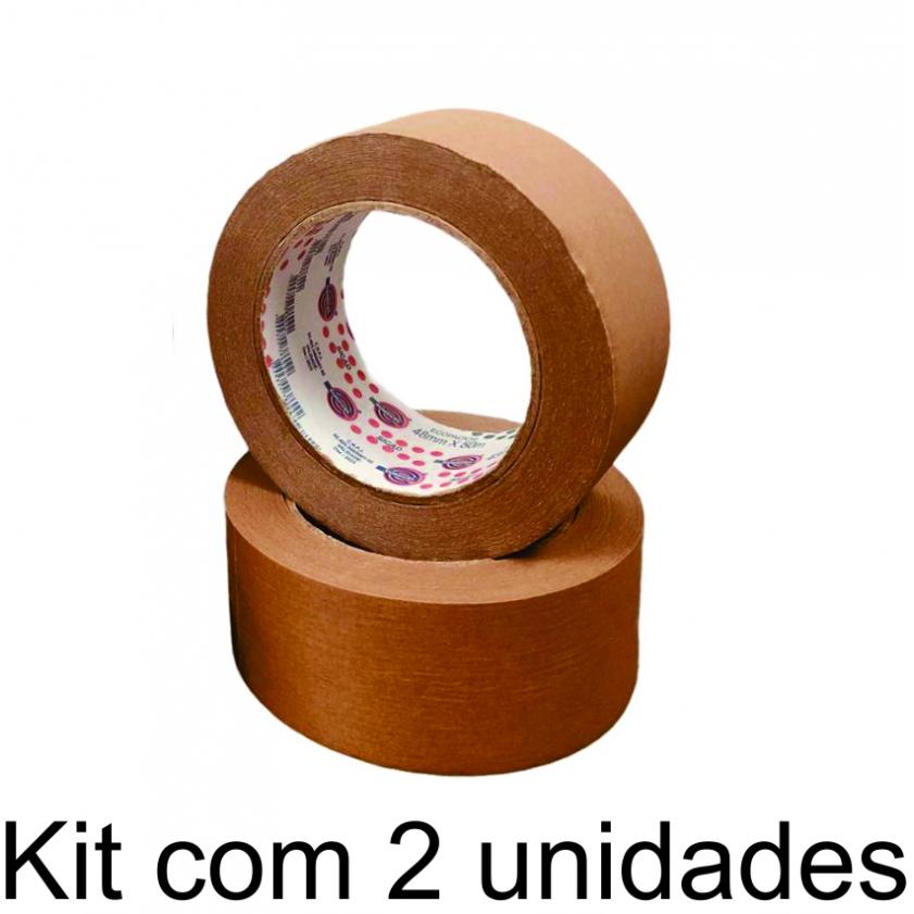 2 Rolos de Fita Adesiva Kraft 48x50
