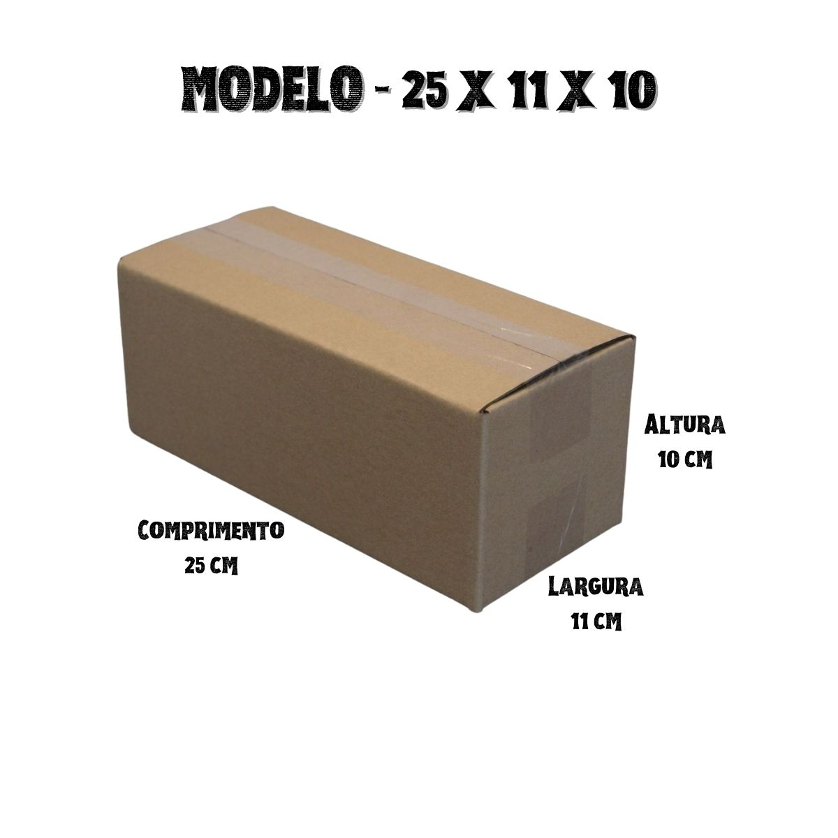 500 Caixas de Papelao (25X11X10)cm - Sedex / Pac / Correios
