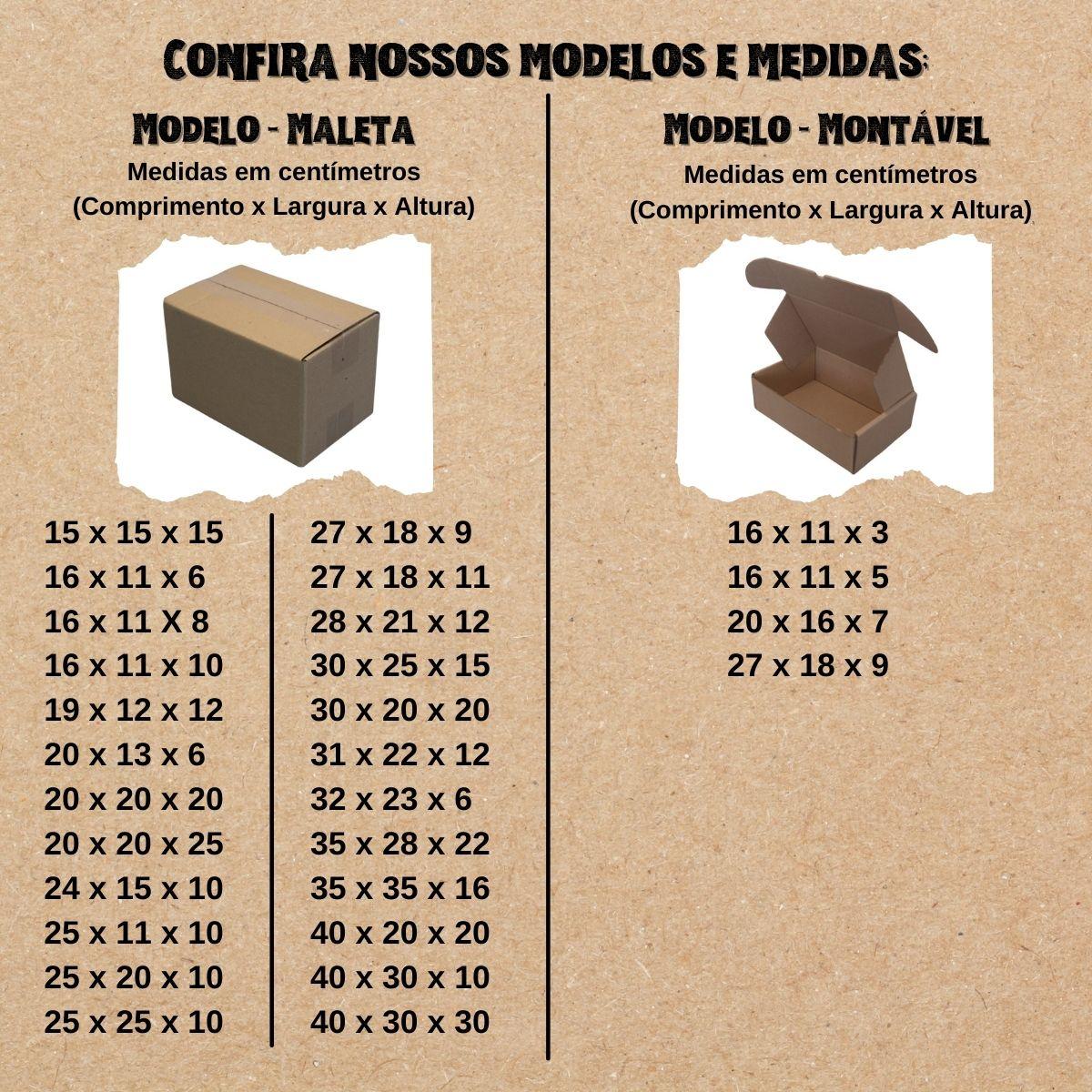 50 Caixas de Papelao (20X20X25)cm - Sedex / Pac / Correios