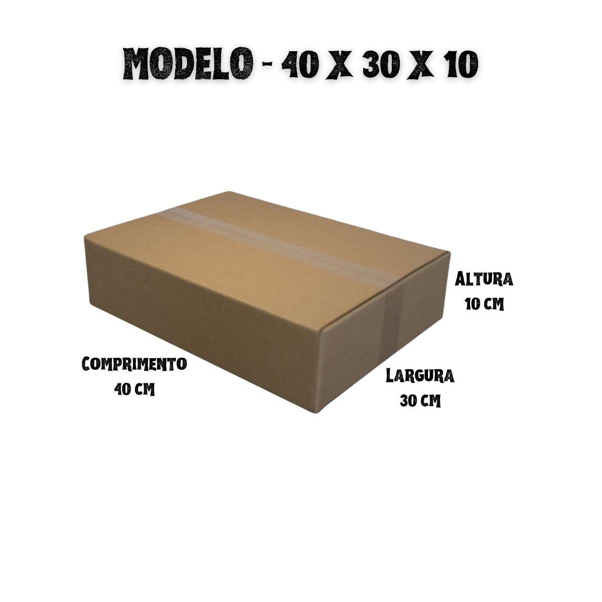 50 Caixas de Papelao (40X30X10)cm - Sedex / Pac / Correios