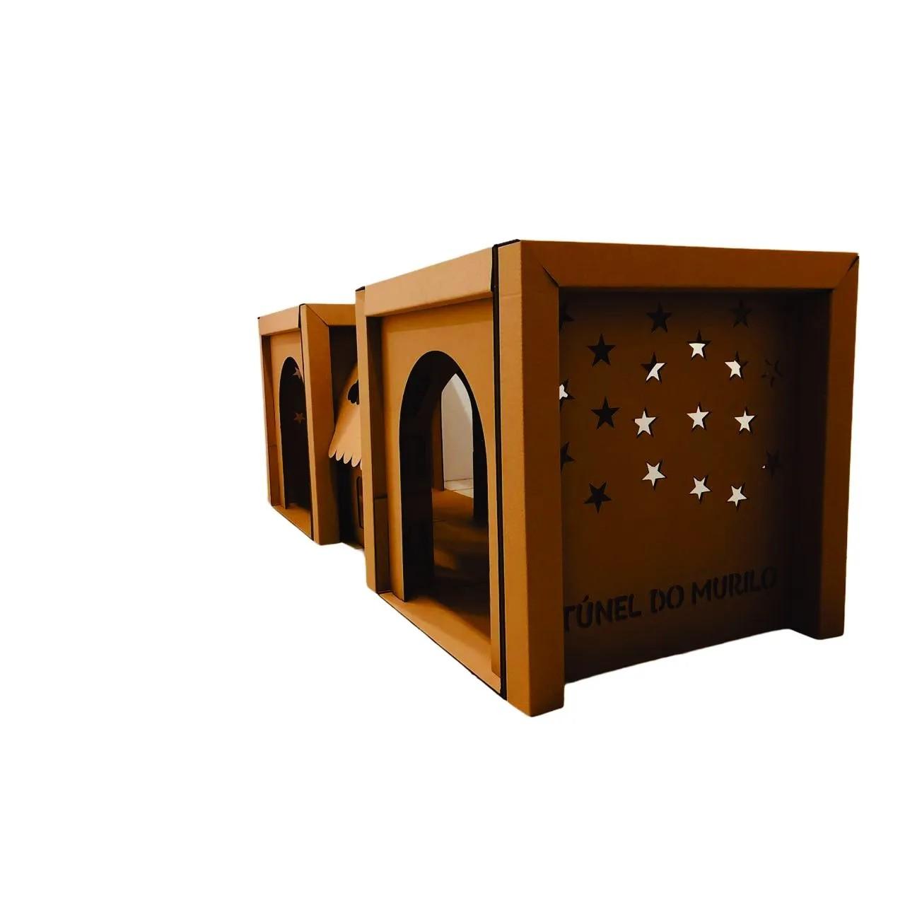 Toca com Túnel Infantil de Papelão - Faeco