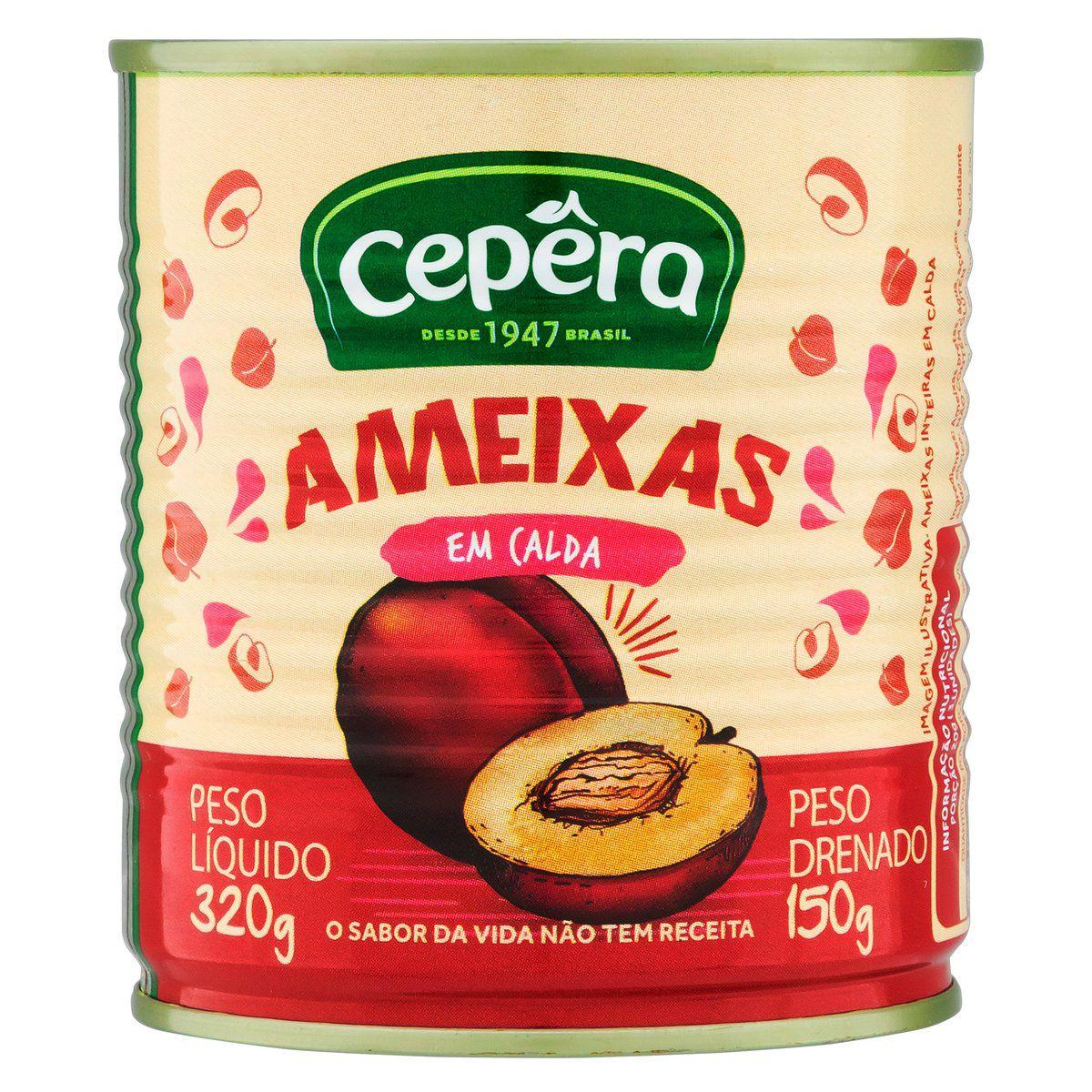 AMEIXAS EM CALDA CEPERA LT 1x150g