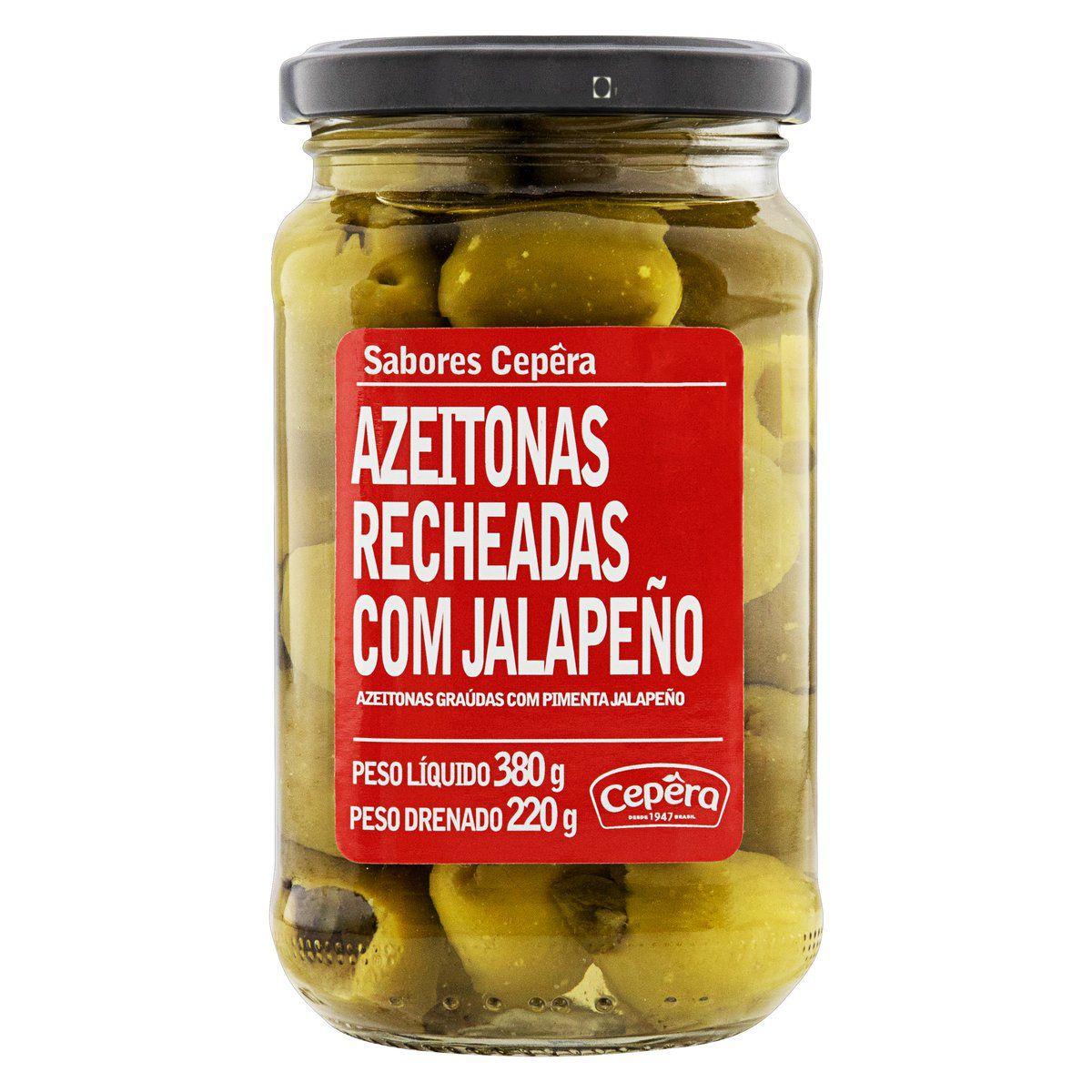Azeitonas Recheadas Jalapeño 220g