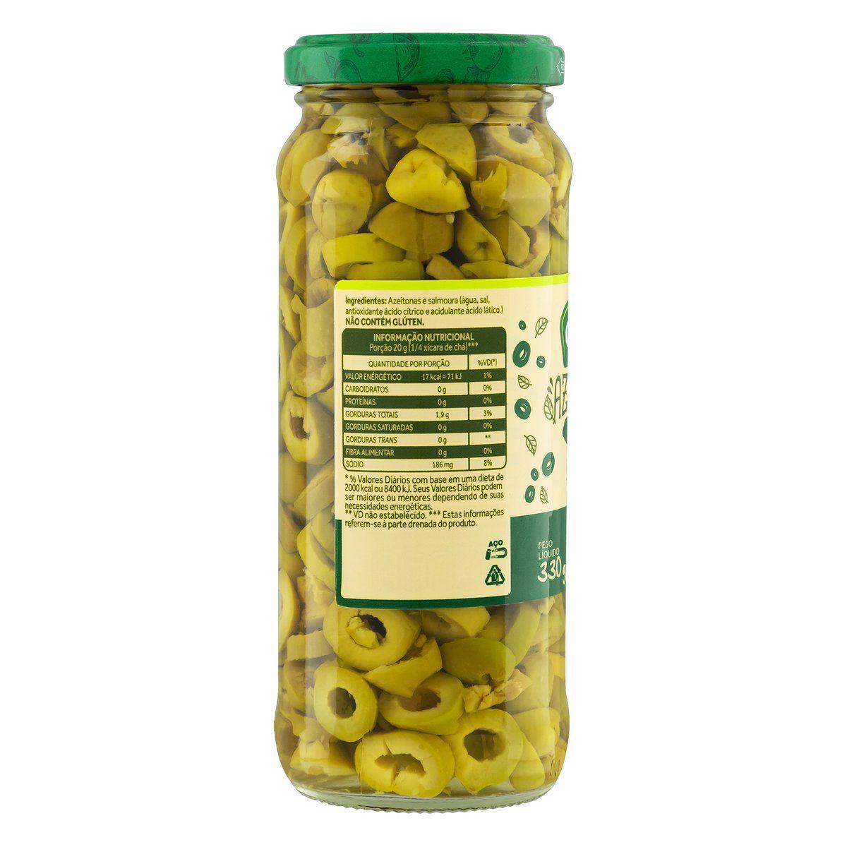 Azeitonas Verdes Fatiadas 160g