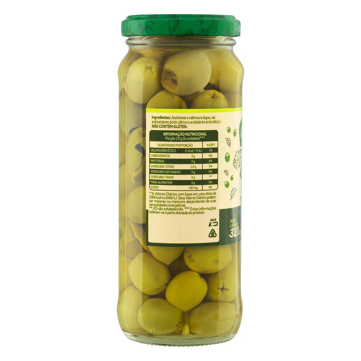 Azeitonas Verdes Sem Caroço 155g