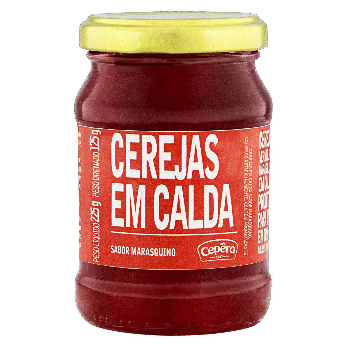 Cereja em Calda Sabor Maraschino 125g