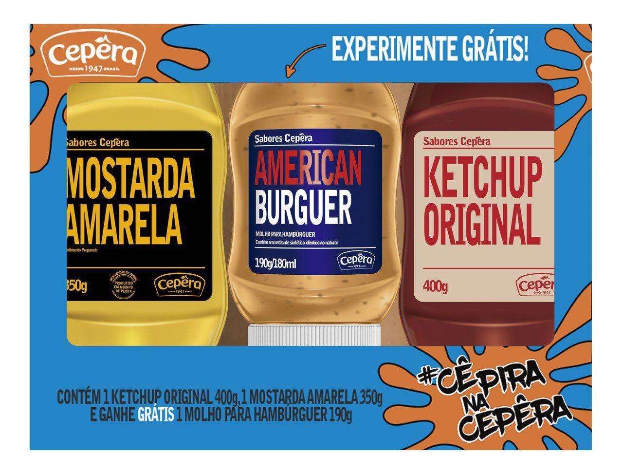Ketchup + Mostarda - Grátis American Burguer