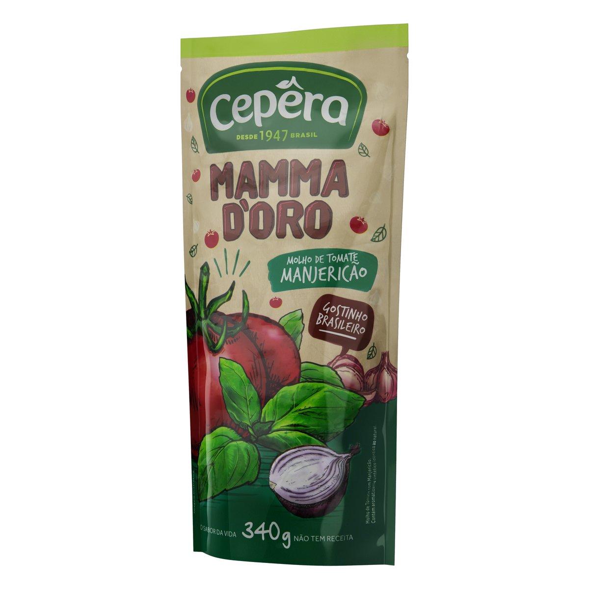 Molho de Tomate Mammadoro Manjericão 340g