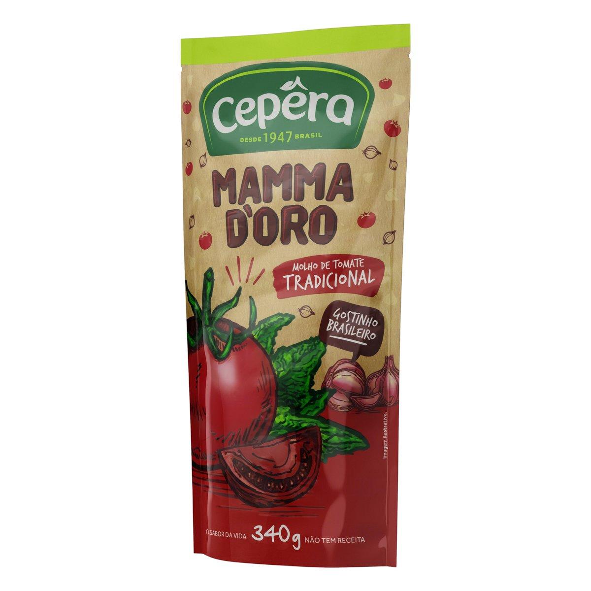 Molho de tomate Mammadoro Tradicional 340g