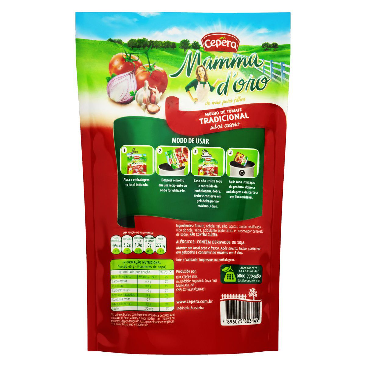 Molho de Tomate Mammadoro Tradicional 2kg