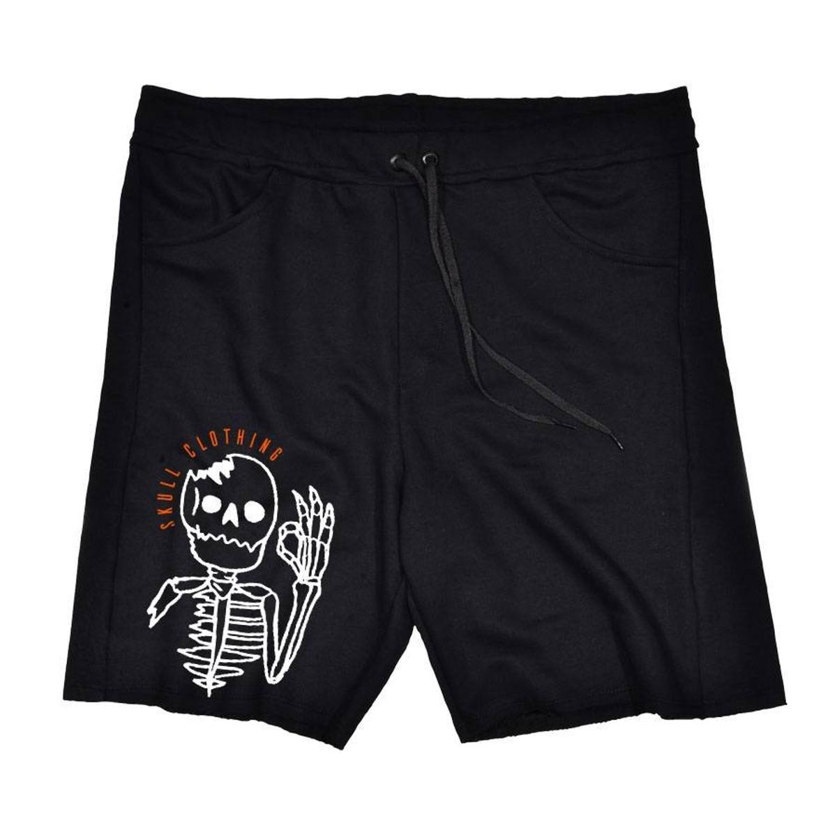 Bermuda Moletom Okay Skull