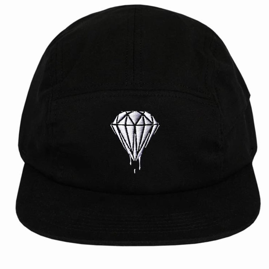 Boné 5 Panel Diamond Preto