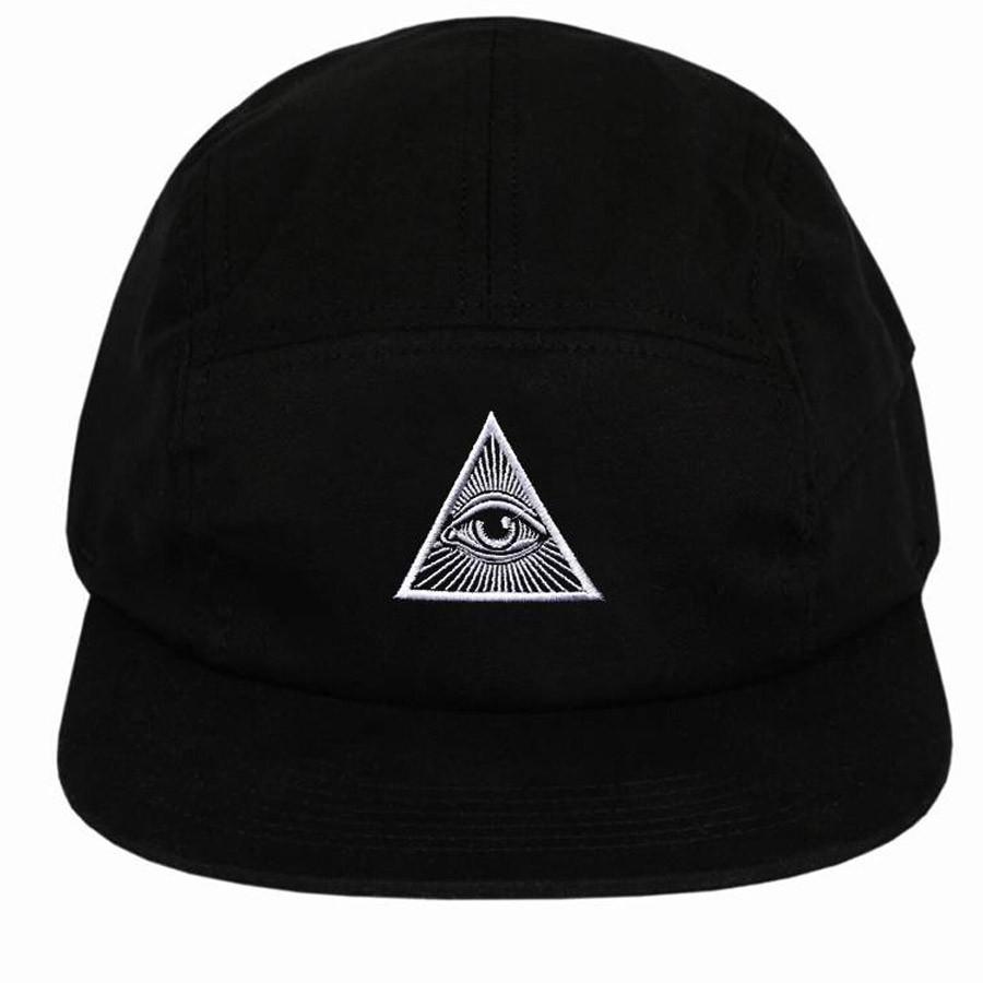 Boné 5 Panel Illuminati Preto