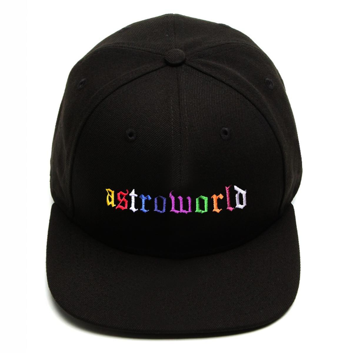 Boné Snapback Aba Reta Astroworld Travis Scott Preto
