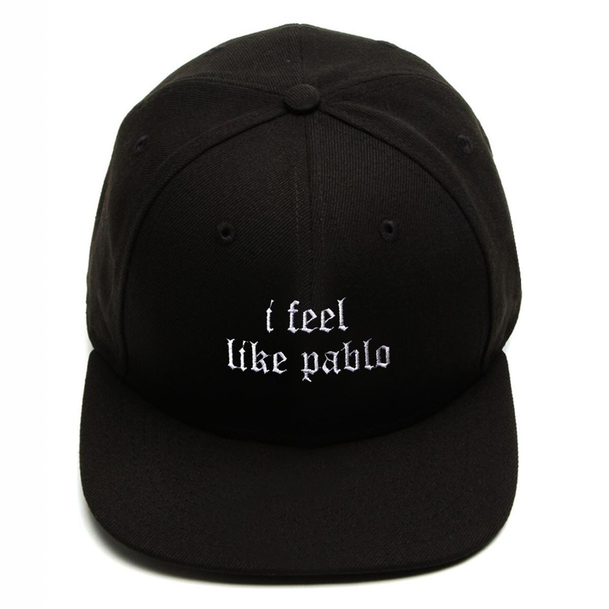 Boné Snapback Aba Reta I Feel Like Pablo Preto