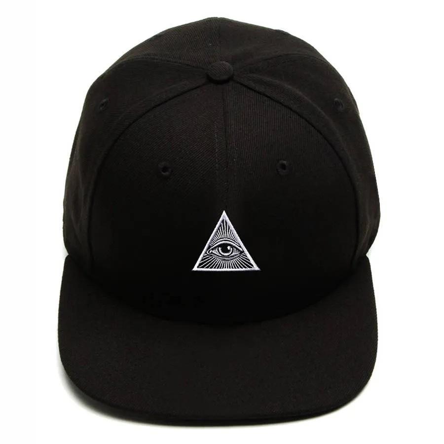 Boné Snapback Aba Reta Illuminati Preto