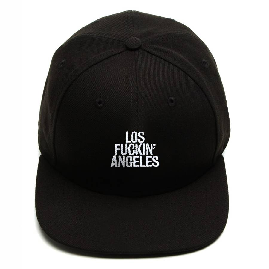 Boné Snapback Aba Reta Los Fuckin Angeles Preto