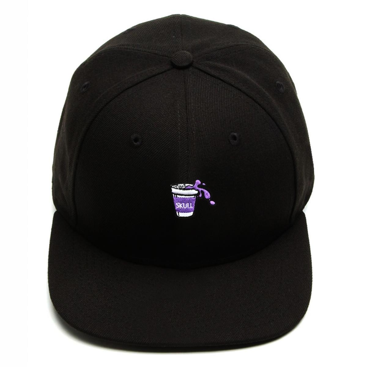 Boné Snapback Aba Reta Purple Juice Preto
