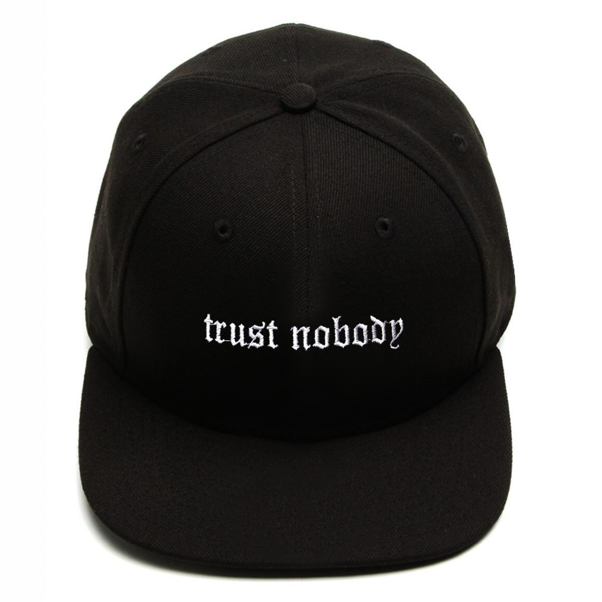 Boné Snapback Aba Reta Trust Nobody Preto