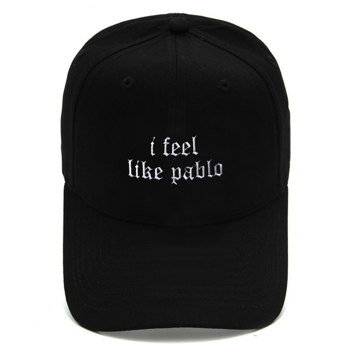 Boné Strapback Dad Hat Aba Curva I Feel Like Pablo Preto